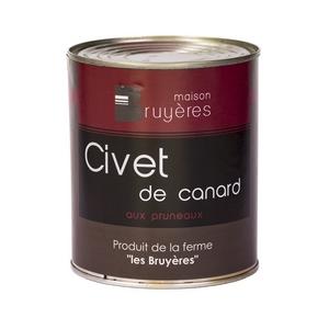 Civet de canard aux pruneaux - La Ferme Les Bruyères - Civet