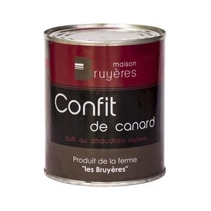 Confit de canard cuit au chaudron (aile) - La Ferme Les Bruyères - Confit