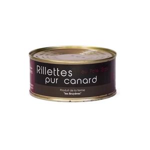 Rillettes au foie gras de canard - La Ferme Les Bruyères - Rillette foie gras